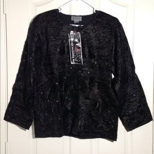 Women's Embroidered Mirrored Jacket small or leg